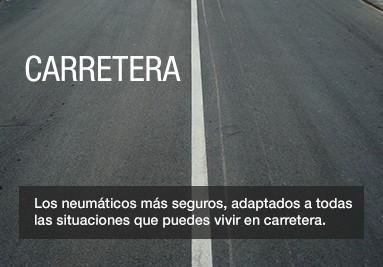 Carretera. Los neumáticos más seguros, adaptados a todas las situaciones que puedes vivir en carrete